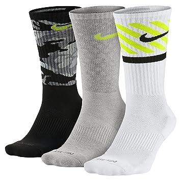 Nike 3PPK Dri-Fit Triple Fly - Calcetines unisex, paquete de 3, color