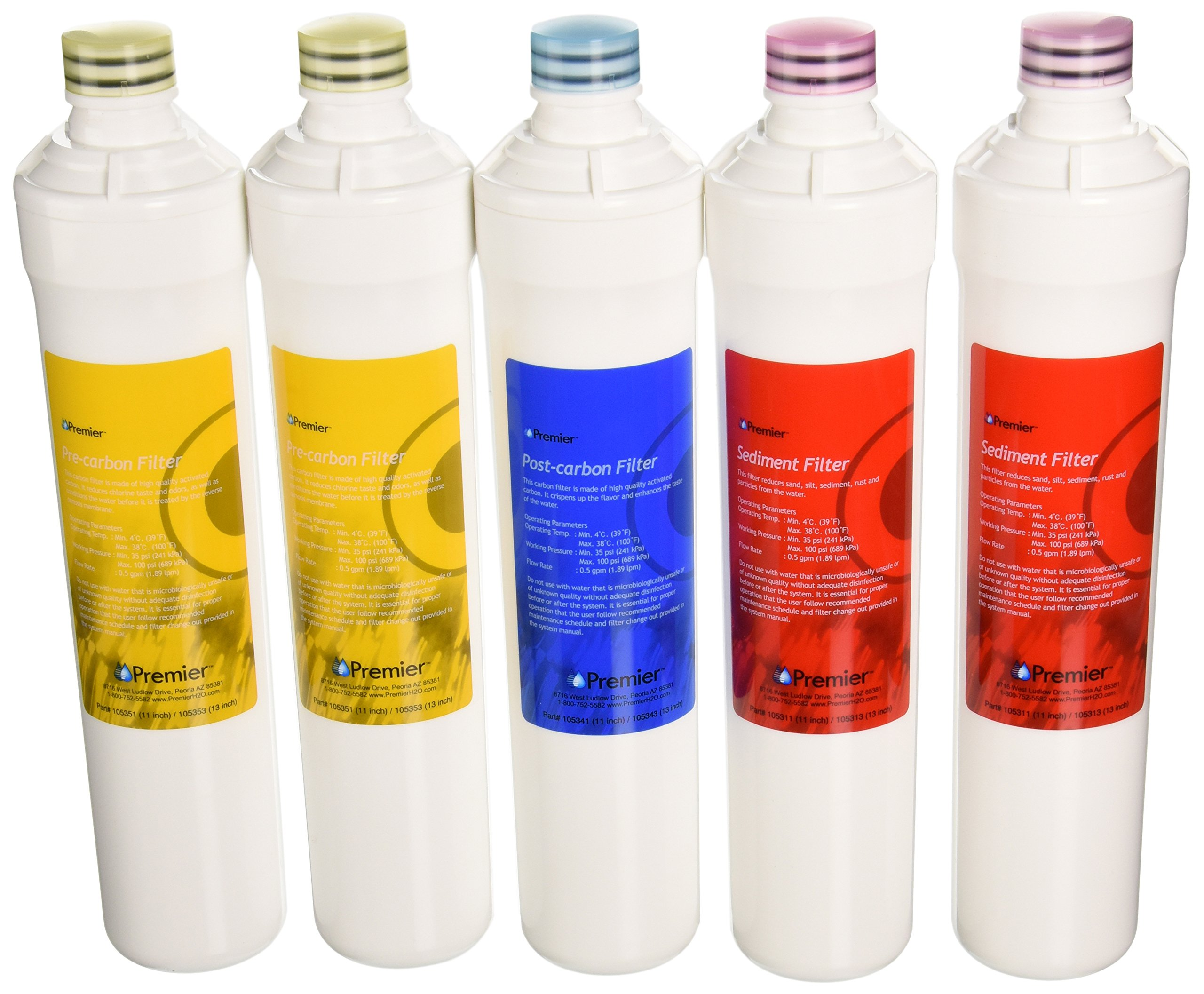 Premier Water Filter 5 Pack Ro Pure Plus Annual