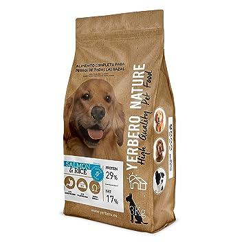 Yerbero NATURE Salmon & Rice, pienso hipoalergenico para perros - SIN Gluten ...