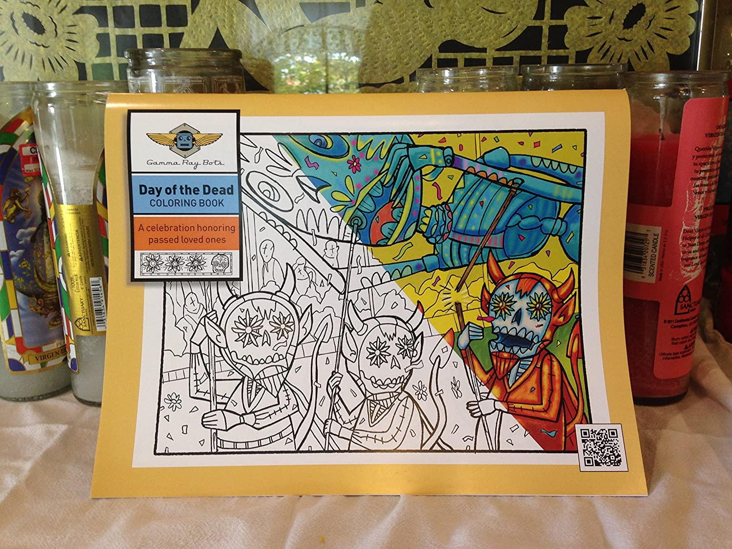 - Amazon.com: Day Of The Dead Coloring Book. A Collection Of 20