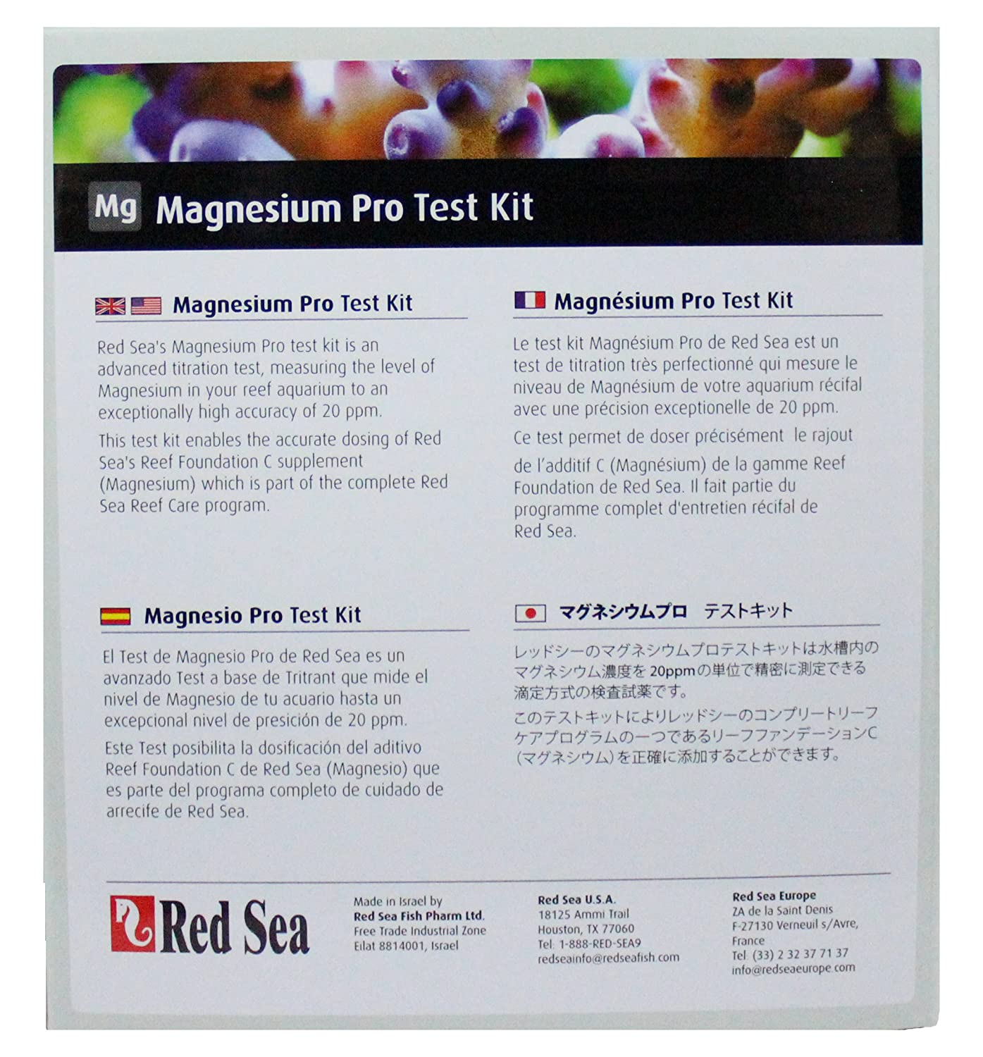 Red Sea r21415 Magnesio Pro Test Kit 100 Pruebas: Amazon.es: Productos para mascotas
