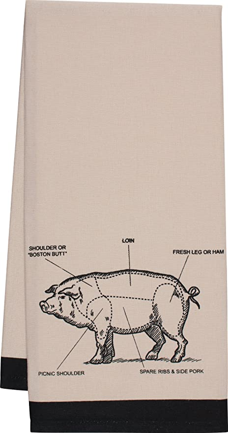 Ordinaire HIC Pig Kitchen Towel, Chefu0027s Cut Chart Design, 20 By 30 Inch