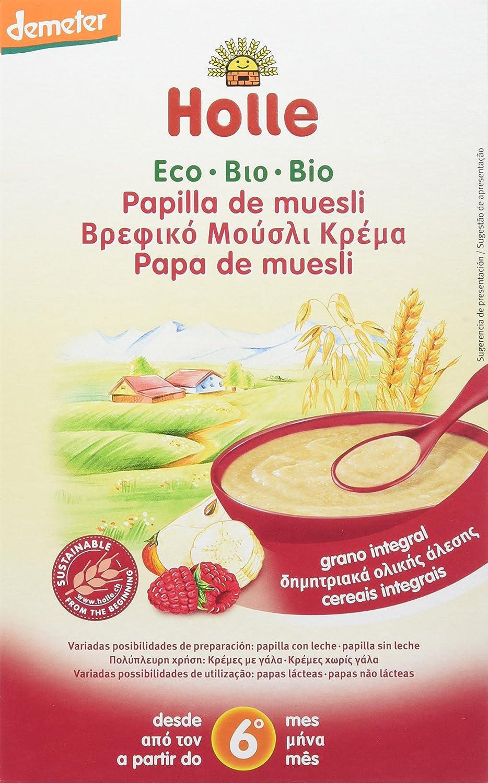 Holle Papilla de Muesli (+6 meses) - Paquete de 6 x 250 gr - Total: 1500 gr: Amazon.es: Alimentación y bebidas