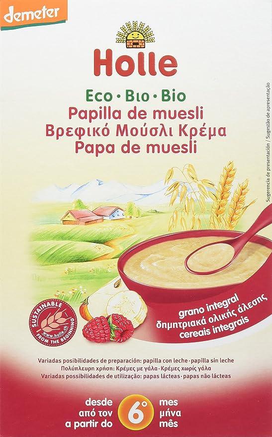 Holle Papilla de Trigo y Plátano con Leche (+6 meses) - Paquete de 6 x 250 gr - Total: 1500 gr: Amazon.es: Alimentación y bebidas