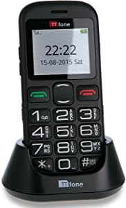 TTfone Jupiter 2 Big Button Easy Senior Mobile Phone with Dock Charger