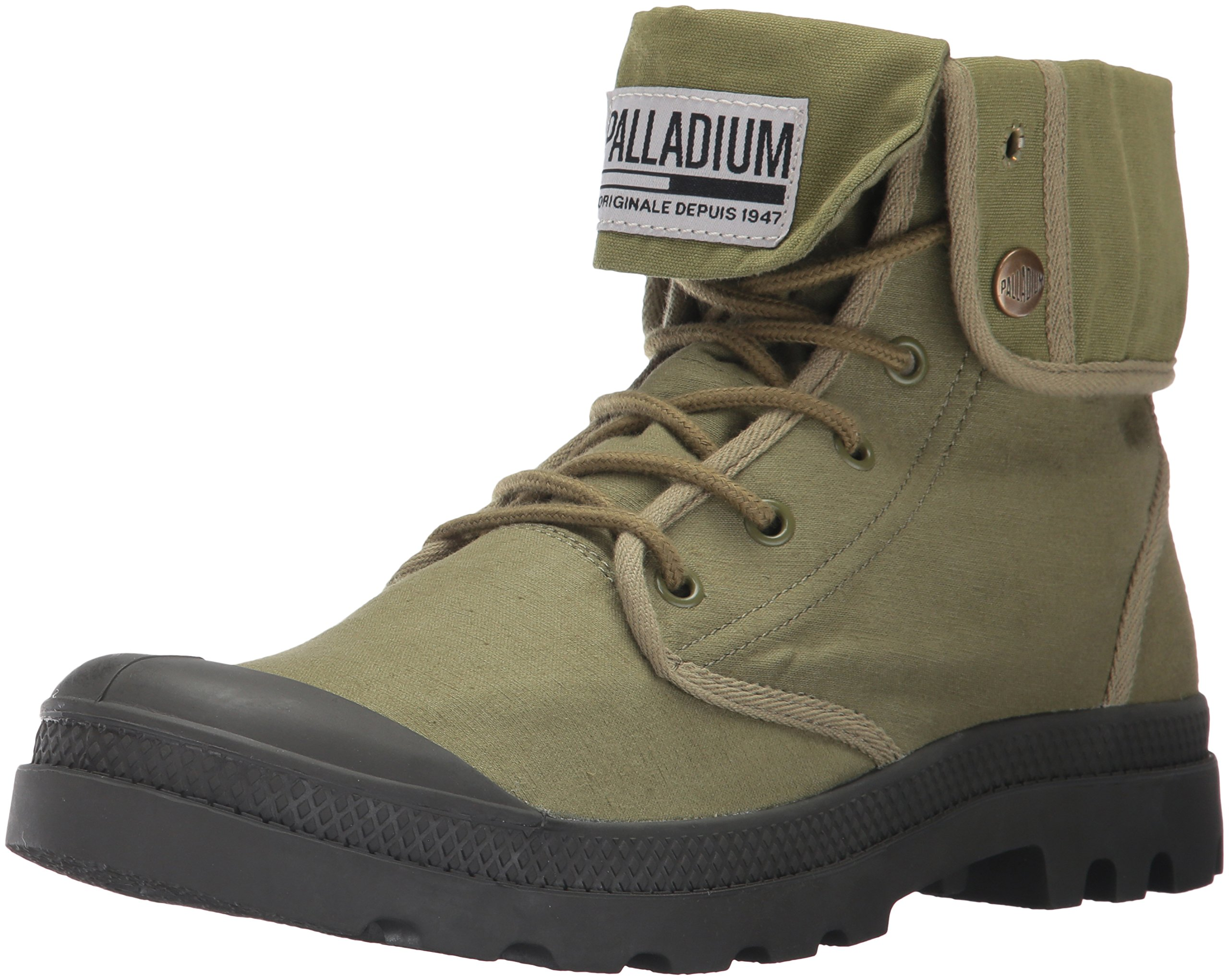 Palladium Men's Baggy Army Trng Camp Chukka Boot, Olive Drab/Beluga, 5 M US