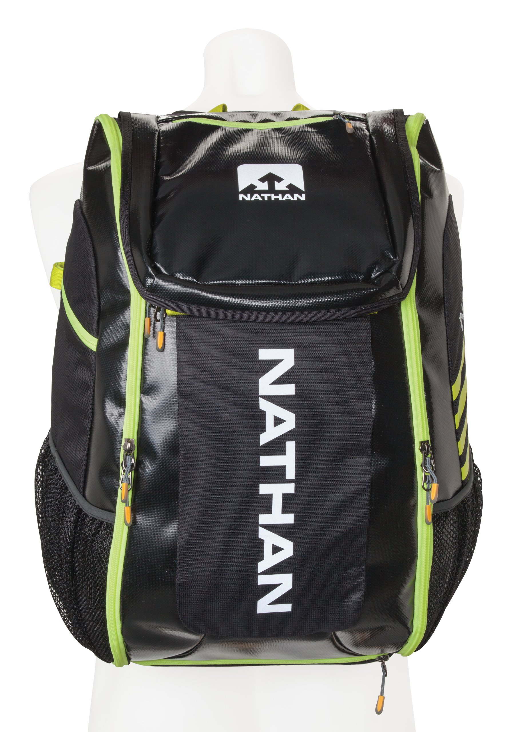 Nathan Flight Control Bag, Black/Sulphur Spring, One Size