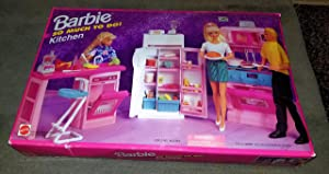 Barbie So Much to Do Kitchen PLAYSET w Cooking Unit with Stove, Refrigerator, Island with Dishwasher & More! (1995 Arcotoys, Mattel)