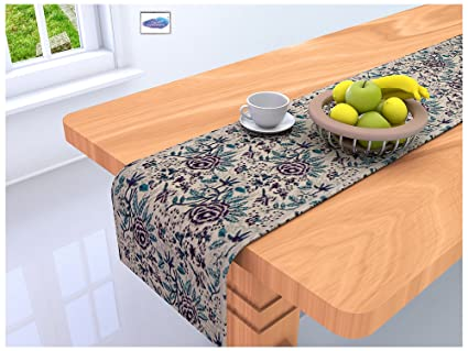 Clasiko Table Runner; 16x72 Inches Full Size; Cotton Canvas Fabric; Table Top Home Décor; Color Fastness Guarantee