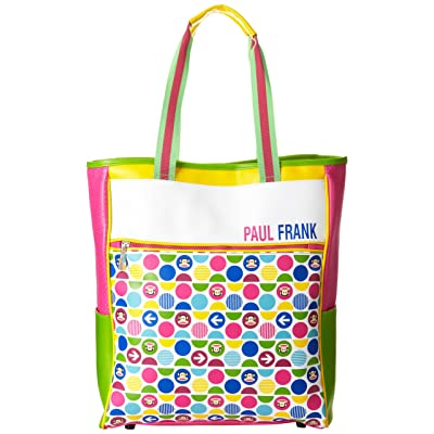FAB Starpoint Big Girls' Paul Frank Junior International Agent Tote, Pink/Green, One Size