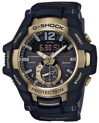 5138bec799fc Amazon.com  CASIO G-Shock GR-B100GB-1AJF GRAVITYMASTER Black   Gold Series  Solar Watch (Japan Domestic Genuine Products)  Watches
