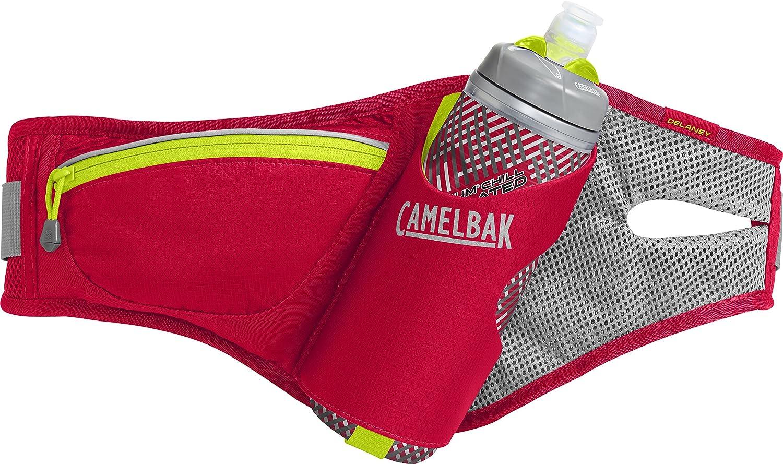 CamelBak Delaney Belt 21 oz Podium Chill Hydration Pack, Crimson Red/Lime Punch