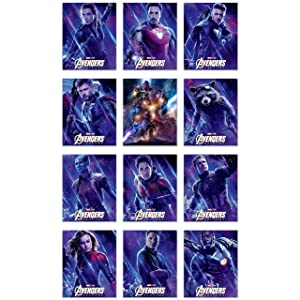 Avengers Endgame Movie Poster Prints - Set of 12 (8x10) Glossy Marvel Wall Art - Black Widow - Captain Marvel - Iron Man - Hawkeye - Thor - Iron Patriot - Rocket - Nebula - Ant Man - Captain America -