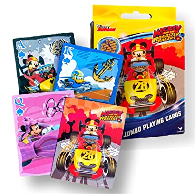 Disney Jumbo Card Games for Kids (Mickey Roadster Racers Jumbo Playing Cards): Office Products