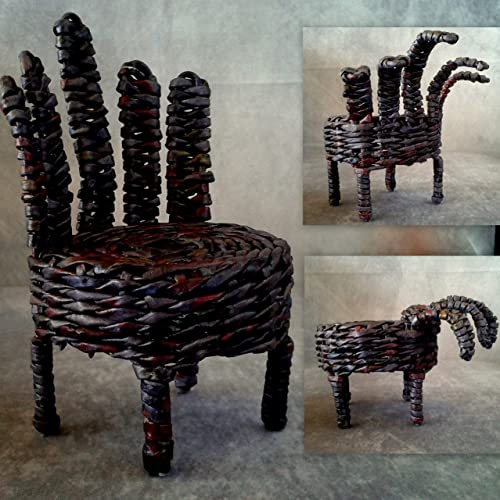 Charmant Amazon.com: Halloween Hand Doll Chair. Horror Figure Seat. Miniature Scary  Furniture For Dollhouse. Gothic Style: Handmade