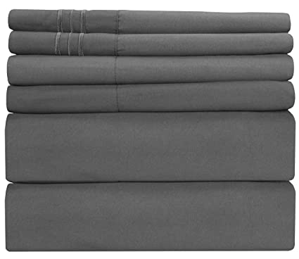 Queen Size Sheet Set   6 Piece Set   Hotel Luxury Bed Sheets   Extra Soft