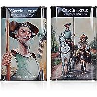 García de la Cruz - Pakket van 2 exclusieve Quijote en Sancho blikken vergine olijfolie (EVOO) - 500 ml elk