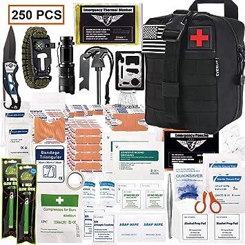 Amazon.com: EVERLIT 250 piezas Kit de primeros auxilios de ...