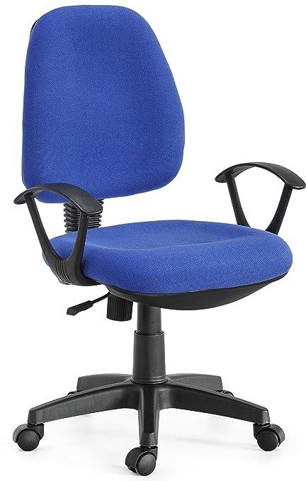 ws design Sedia Ufficio scrivania Torino Ruote Tessuto Studio Colore Blu