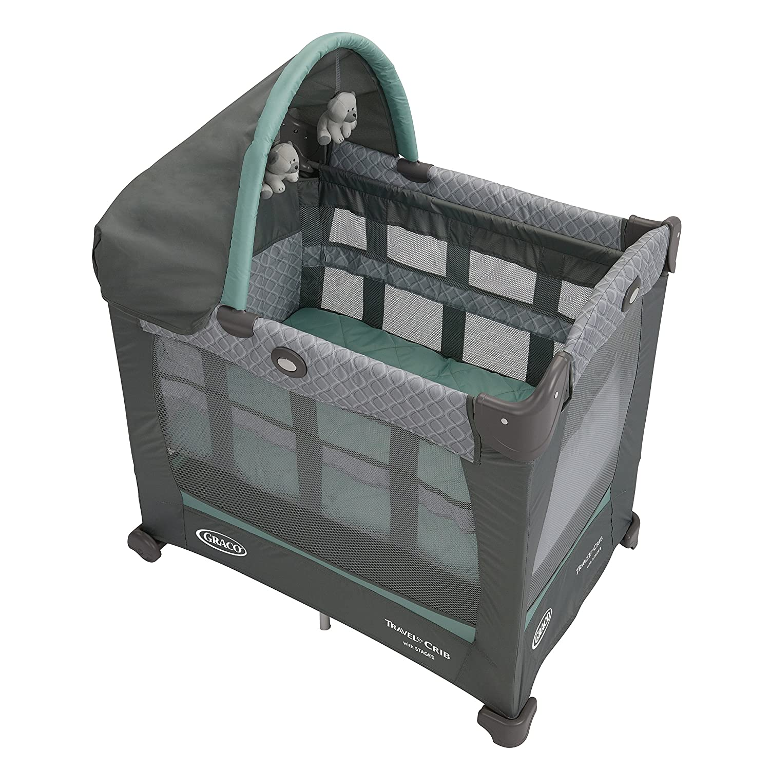Graco Travel Lite Crib With Stages, Manor, One Size by Graco