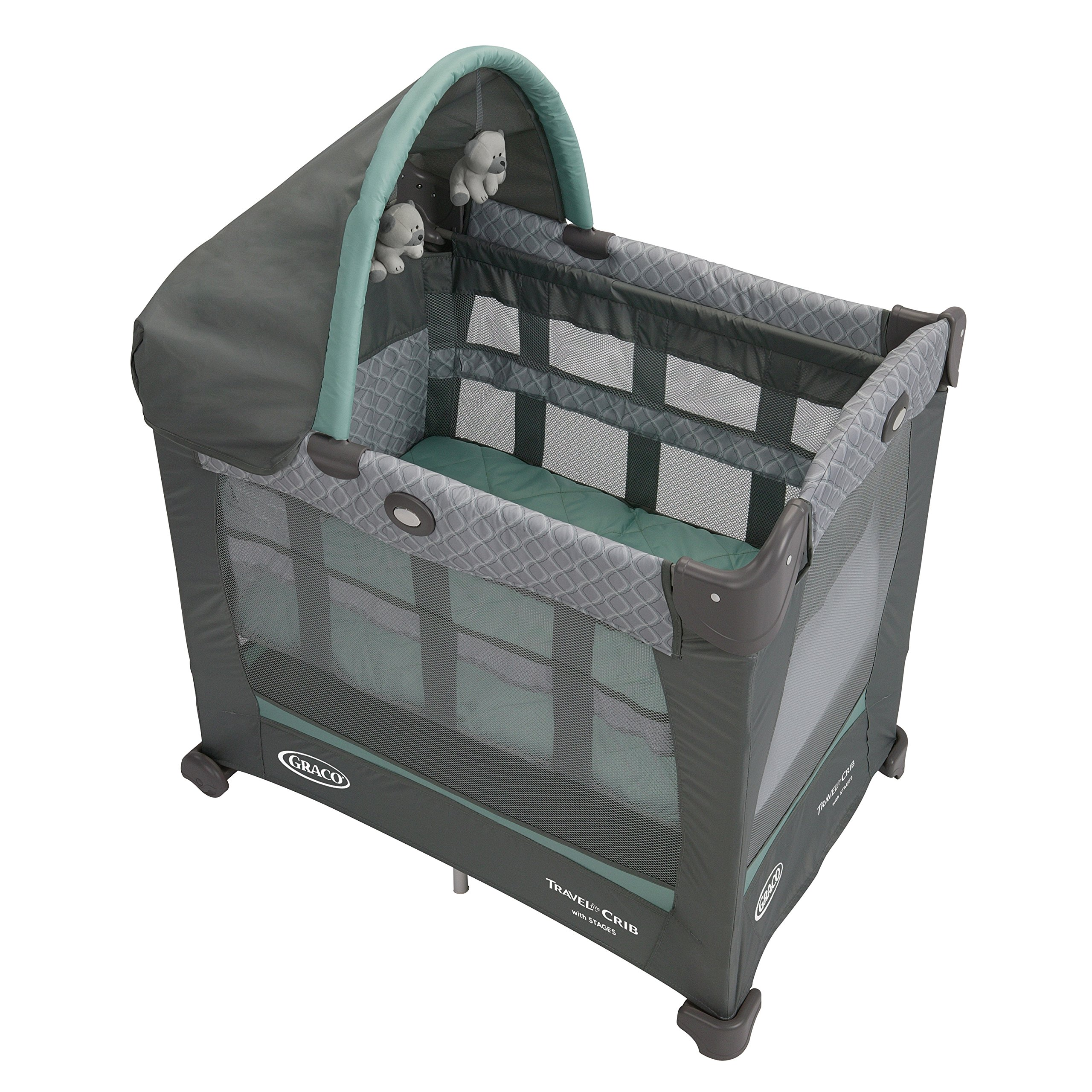 Amazon.com : Graco Travel Lite Crib & Bedroom Bassinet ...