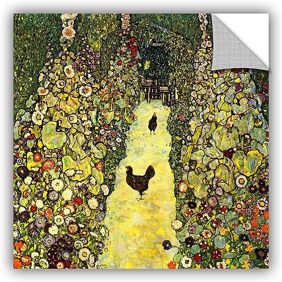 12 by 18 ArtWall Gustav Klimts The Kiss Appeelz Removable Graphic Wall Art