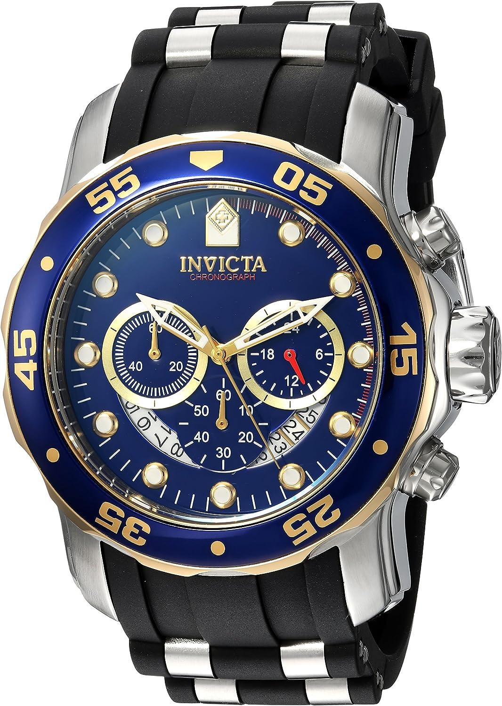 Invicta Men s Pro Diver Stainless Steel Quartz Watch with Silicone Strap, Black, 26 Model 22971