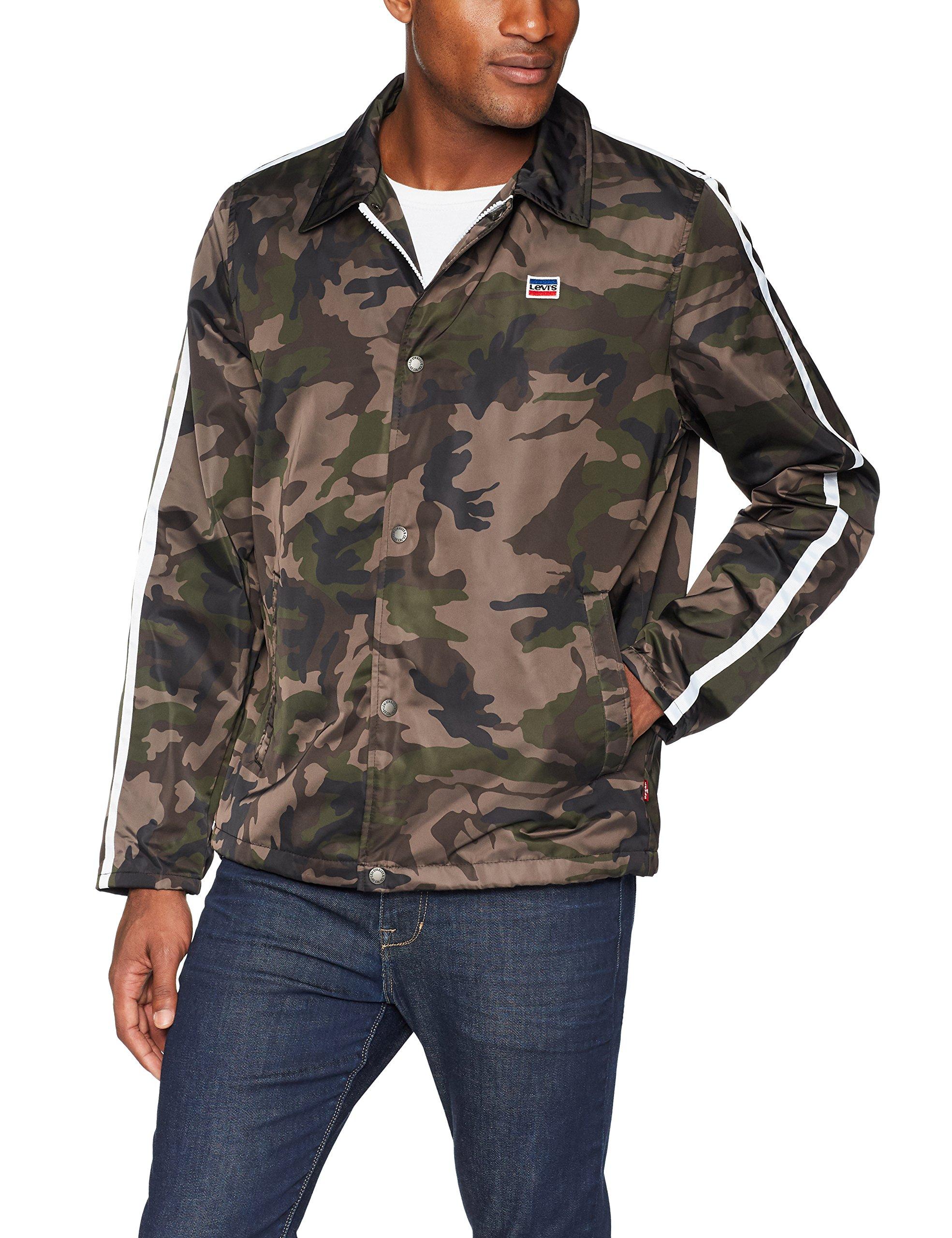 Levi's Men's Retro Coaches Jacket, Camouflage, Large by Levi's