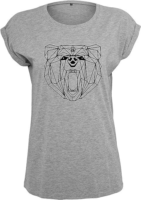 EMOM Fitness Oso de Diseño Workout lockeres Camiseta de Cuello Redondo para Mujer (Negro, Oscuro Gris o Gris Claro en Tamaño: XS, S, M, L o XL): Amazon.es: Deportes y aire libre