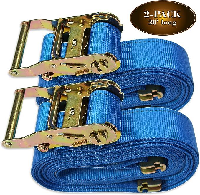 4-Pack SECULOK 1 x 12 Soft Loop Tie-Down Straps