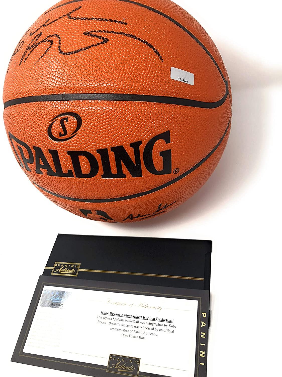 47a92859cbc4 Kobe Bryant Los Angeles Lakers Signed Autograph NBA Game Basketball Black  Ink Panini Authentic Certified at Amazon s Sports Collectibles Store