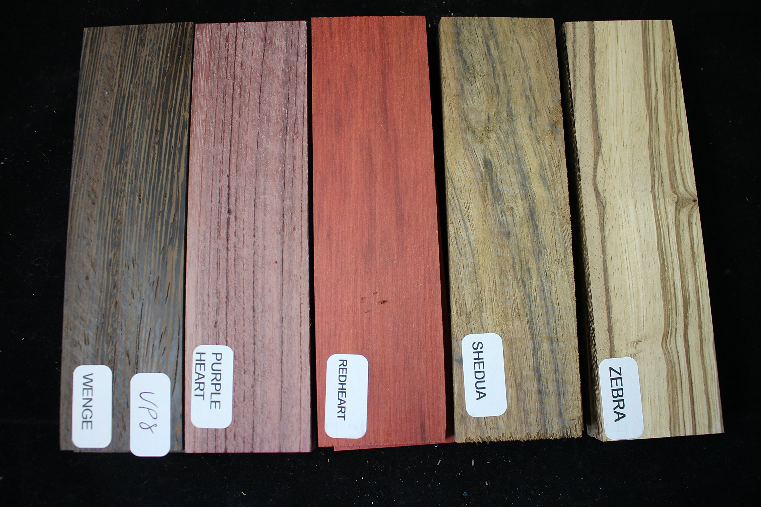 Payne Bros Custom Knives Variety Pack of 5 Wood Scales, 5 INCH, for Knife Making - Gun grps - Craft Supplies (VP8)