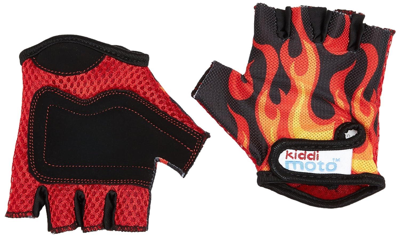 Kiddimoto-GLV021/S Casque Enfant, GLV021S, Matt Orange, Taille M 2gl021s_flames