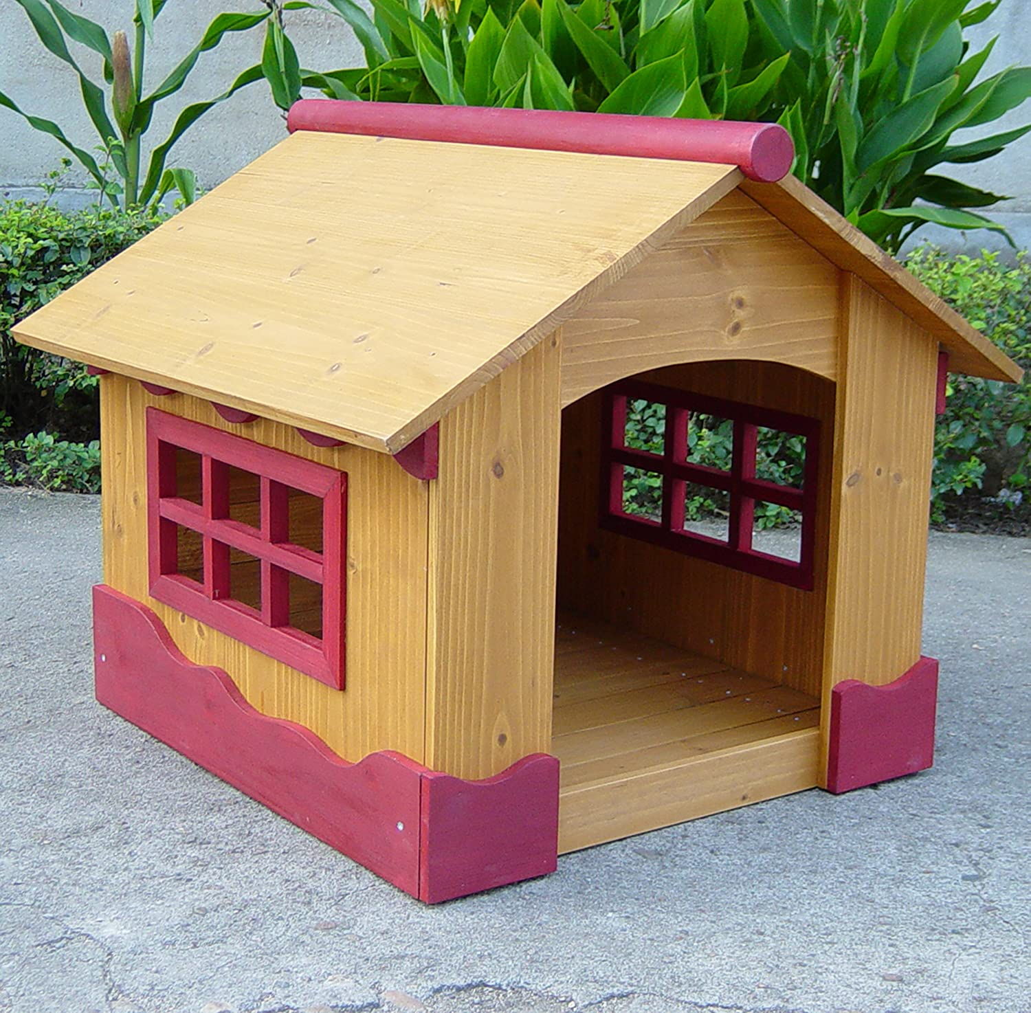 Dog House Designs Part - 18: Amazon.com : Merry Pet Ice Cream House - Small Wood Pet House : Dog Houses  : Pet Supplies