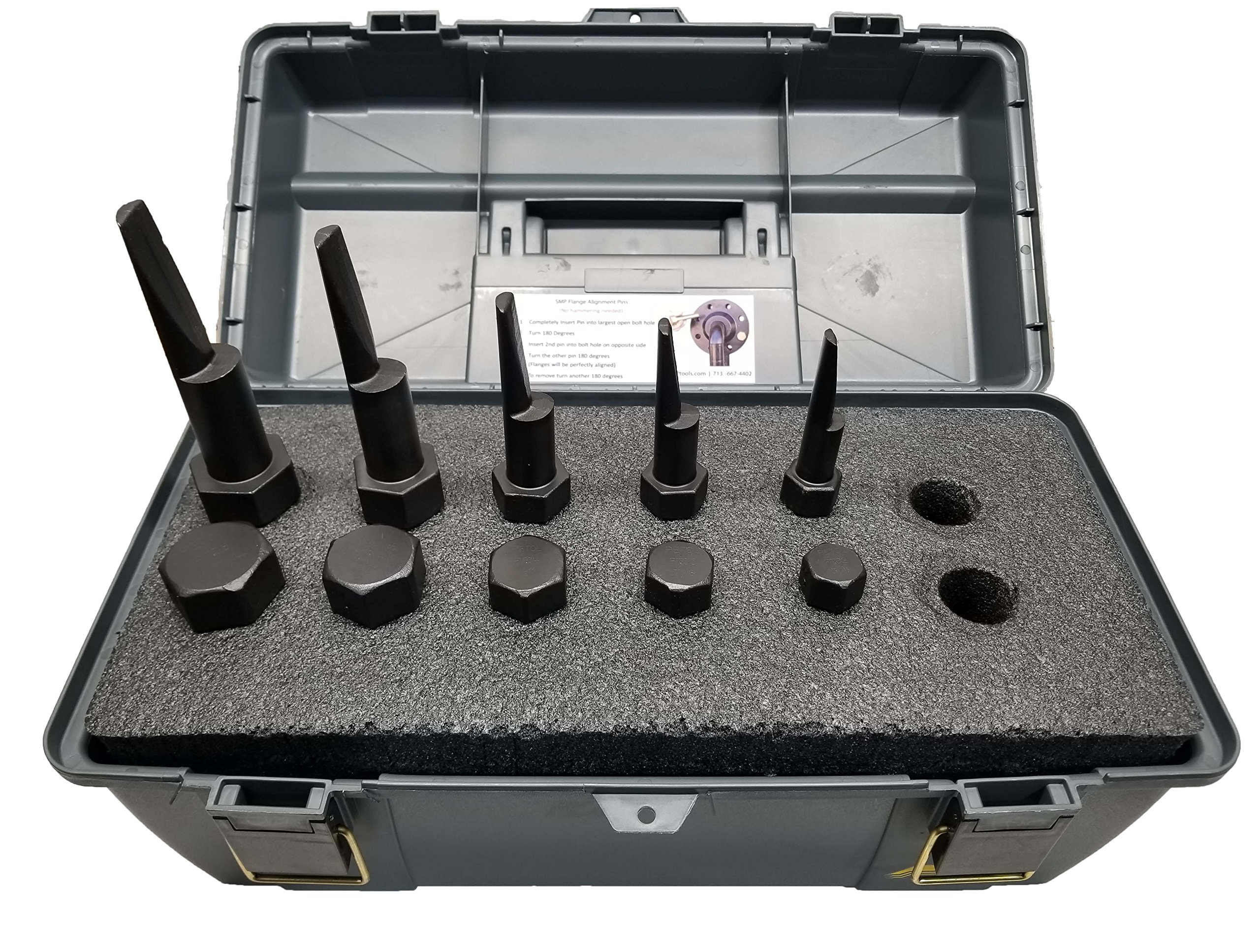 Titan Flange Alignment Pin Set with Case, Contains 2 Units of pin Sizes 3/4'', 7/8'', 1'', 1-1/8'', 1-1/4'' by Titan (Image #1)