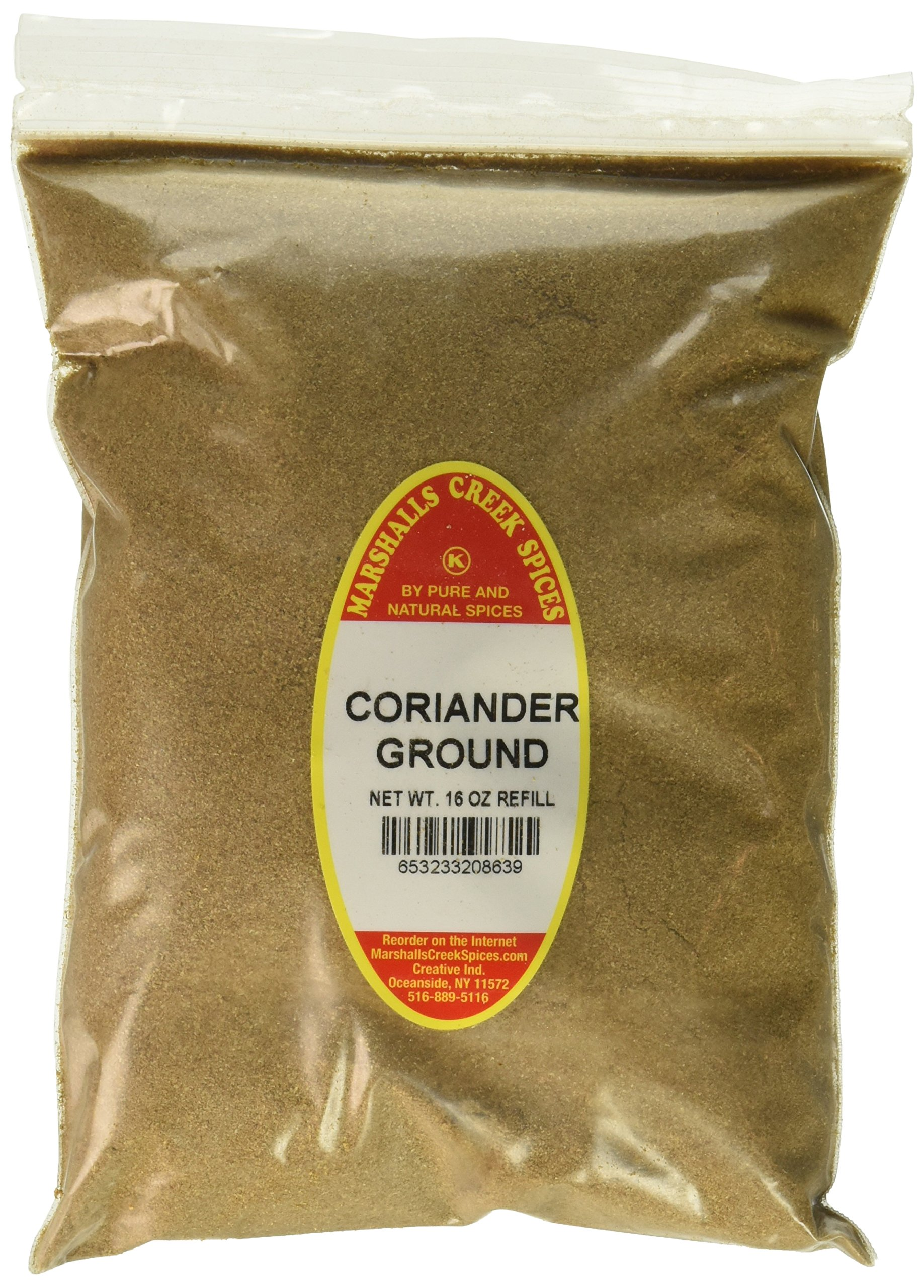 Marshalls Creek Spices Kosher Coriander Ground Refill, 16 Ounce