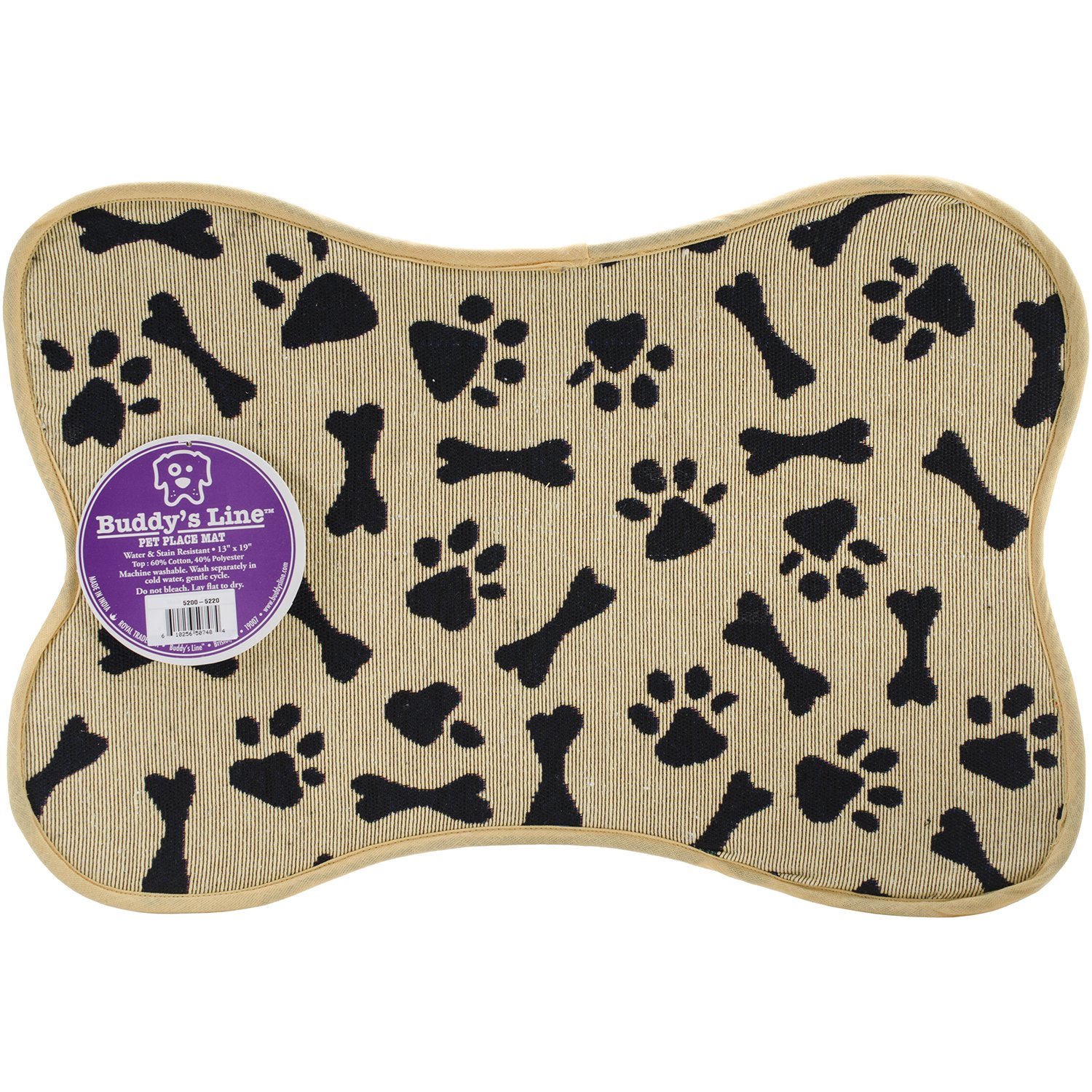 (Bone Shape Bone & Paws) Signature Placemats 33cm x 48cm