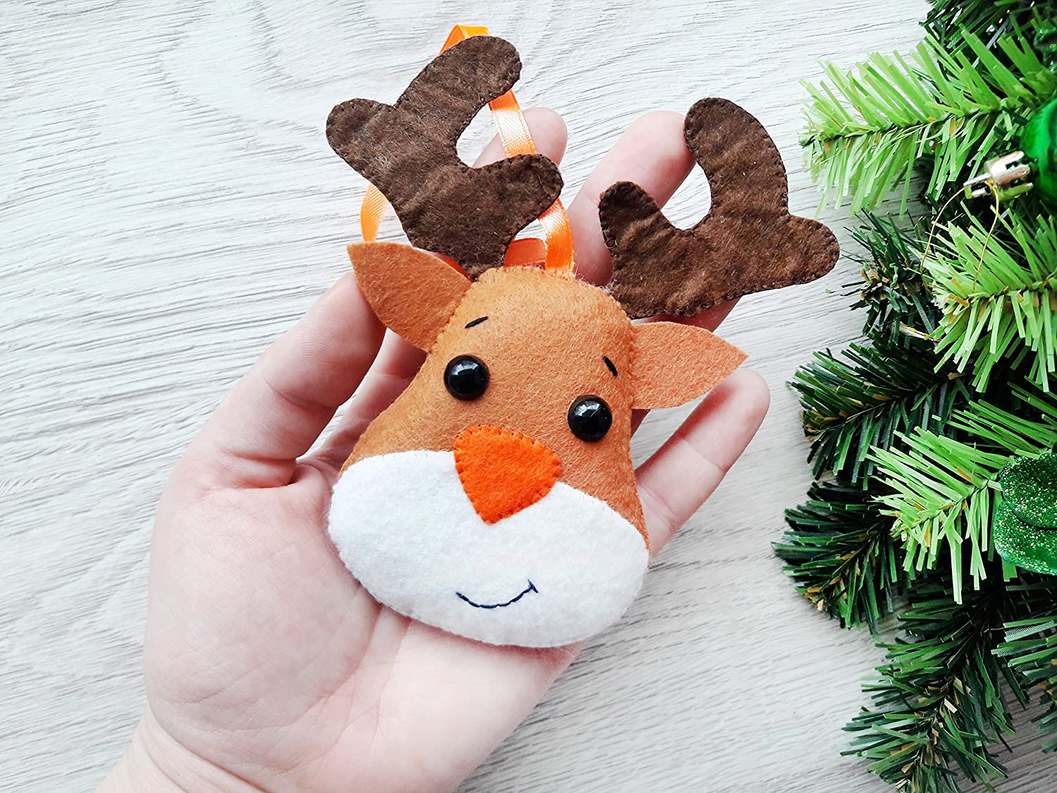 Rudolph Christmas Decorations.Amazon Com Felt Rudolph Reindeer Christmas Ornament