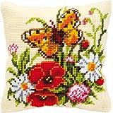 Vervaco PN-0008548 VER - Cuscino con kit per punto croce con fiori di campo