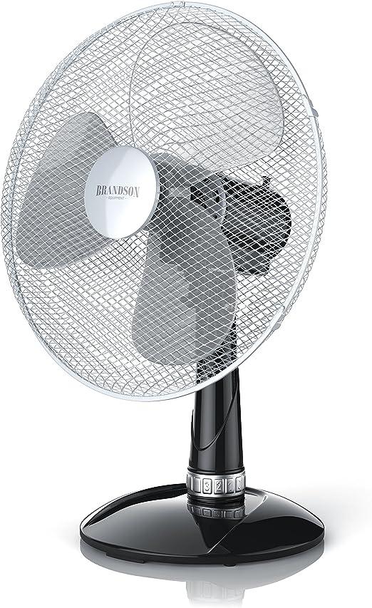 Brandson - Ventilador de Mesa 35 cm - Ventilador de Escritorio - 3 ...