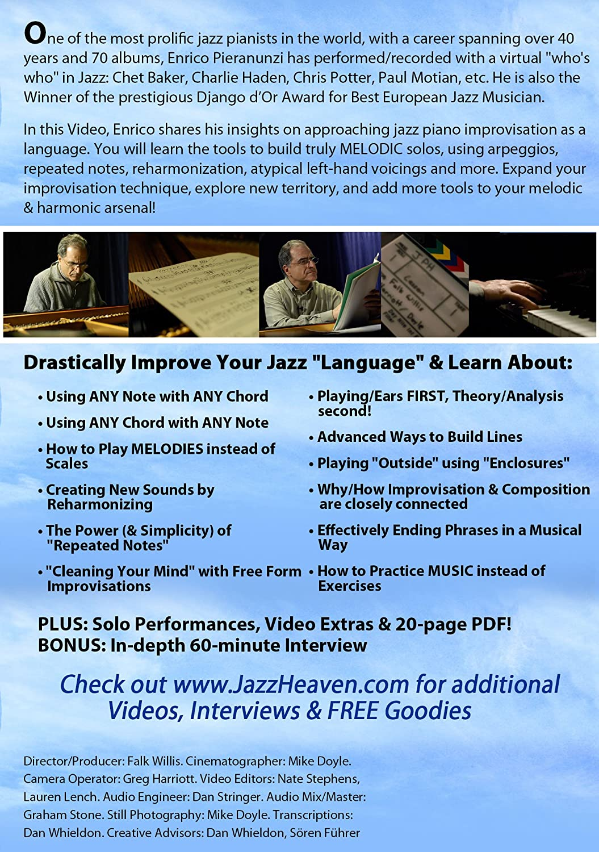 Amazon com: Jazz Piano Lesson DVD Enrico Pieranunzi Jazz Piano A
