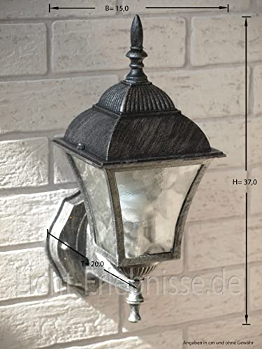 antique wall mounted outdoor lighting ip43 le 2 1 874 from aluminium