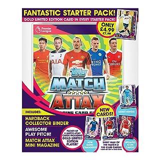 Match Attax Pacchetto base di carte collezionabili per gioco EPL, edizione 2016/17