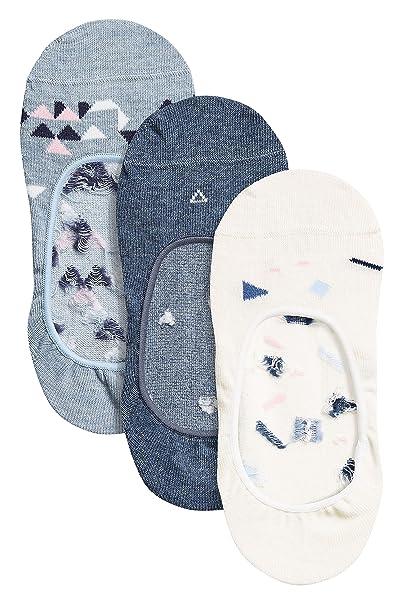 next Mujer Pack De Tres Pares De Calcetines Pinkies Con Estampado Geométrico Multicolor S/M: Amazon.es: Ropa y accesorios