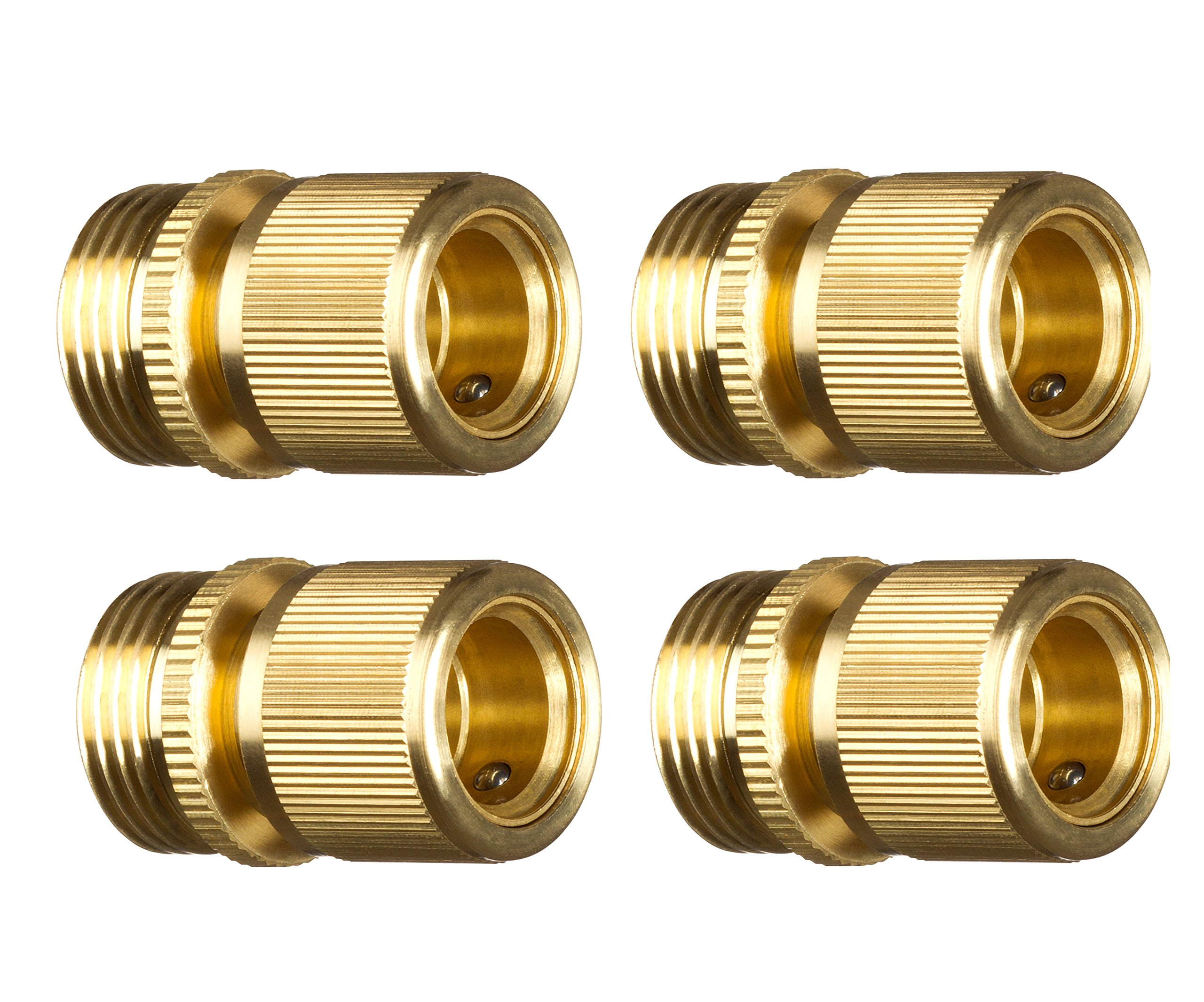 GORILLA EASY CONNECT New Garden Hose Quick Connector. ¾ inch GHT Brass Easy Connect Fitting 4-Piece Female (Only