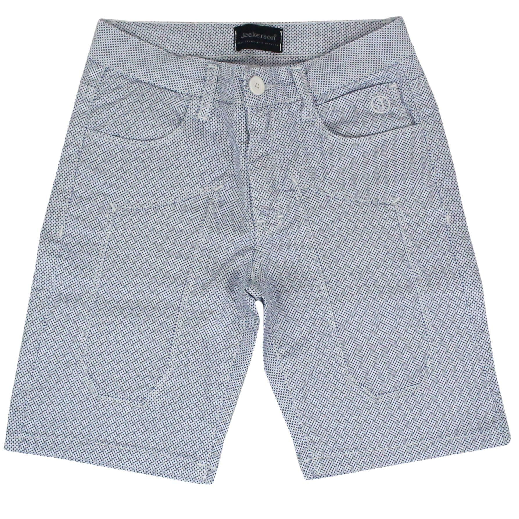 Jeckerson Boys J1050bianco White Cotton Shorts