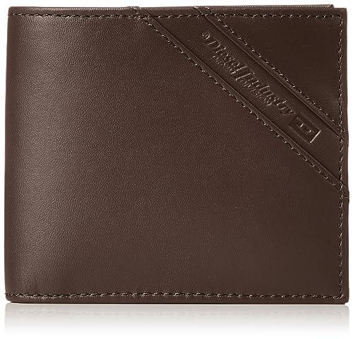 DIESEL Cartera de hombre, cuero genuino, HIRESH S, (11x9,5x2cm): Colour: Brown: Amazon.es: Zapatos y complementos