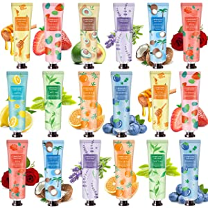 18 Pack Hand Cream Hand Lotion for Dry Cracked Hands, Working Hands & Body, Natural Plant Fragrance Hand Lition Moisturizing Hand Cream Gift Set Travel Size For Men And Women