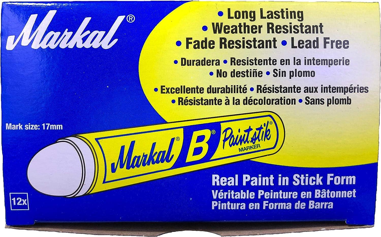 Two Markal B Black Tire Chalk Paint Stick Crayon Surface Markers Graffiti Art