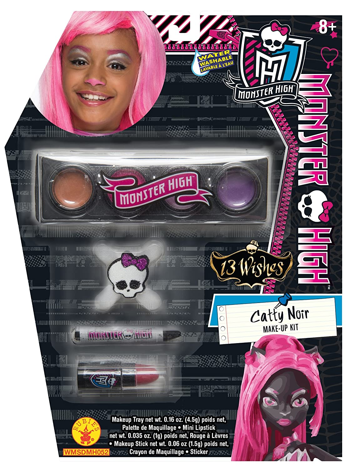 Amazon.com: Rubies Monster High 13 Wishes Catty Noir Make-Up Kit ...